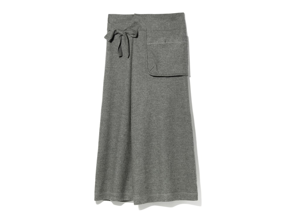 Wool Tight Knit Skirt 3 Grey0