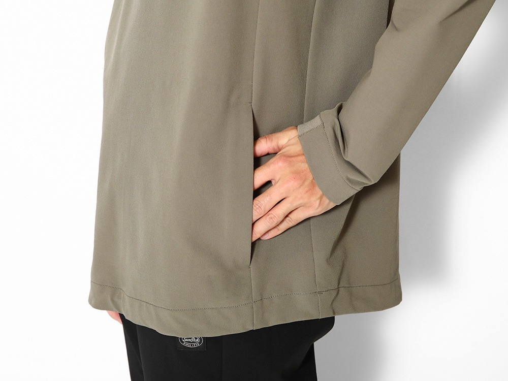 Nylon Power Wool Pullover M Grey