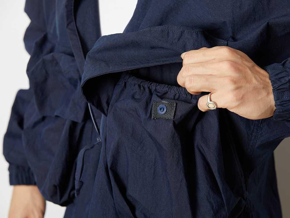 インディゴ コットンナイロン プルオーバーコート 1 ブラック