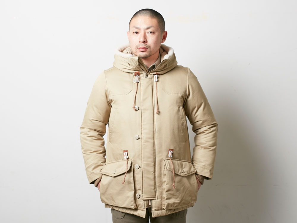 TAKIBI Down Jacket L Navy3