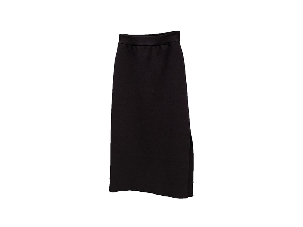Wool Linen/Pe Skirt 1 Black