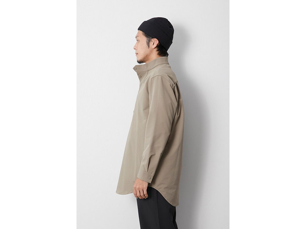 Nylon Power Wool Long Shirt S Beige