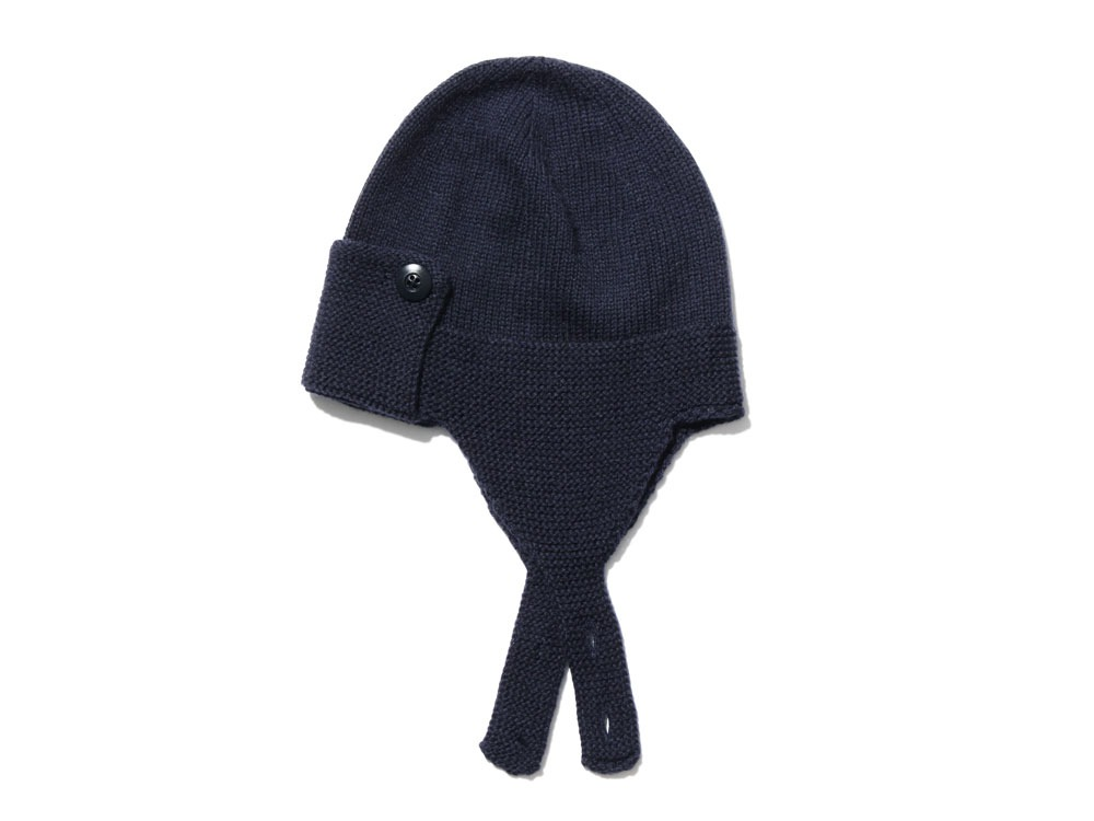 Wool Knit Flight Cap oneNavy