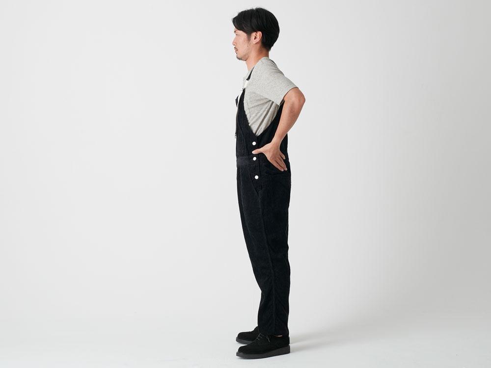Linen corduroy overalls M Black2