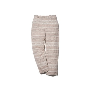 Cotton Silk Jacquard Easy Pants XL Ecru