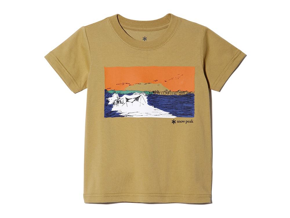 Kids Printed Tshirt Campfield 2 Mustard