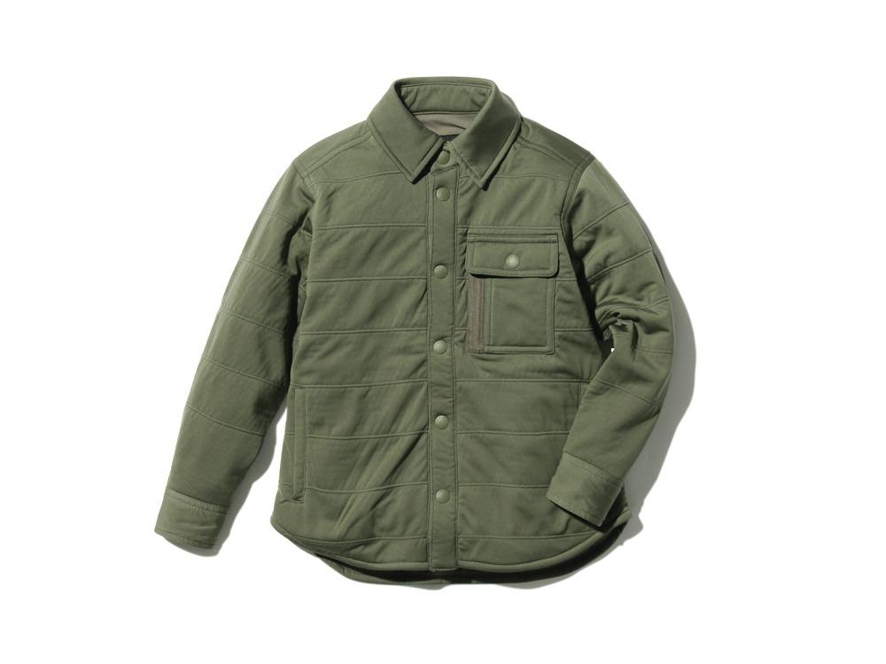 キッズフレキシブルインサレーションシャツ  1 オリーブ