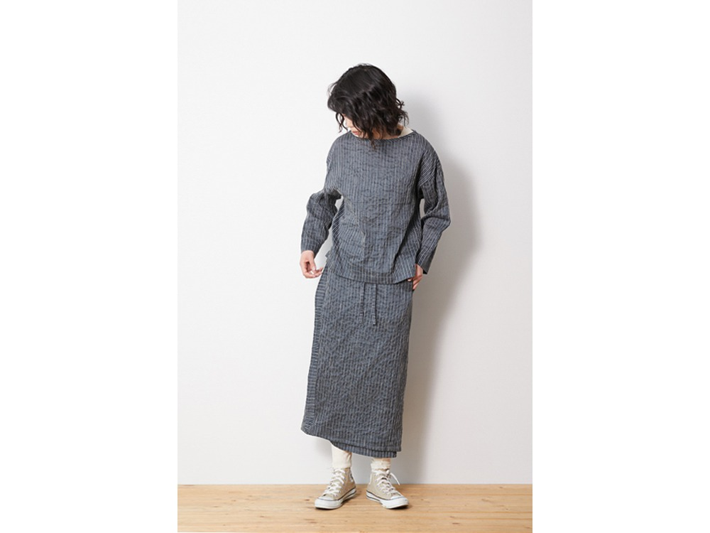 C/R Light Stripe Dress 1 Blue