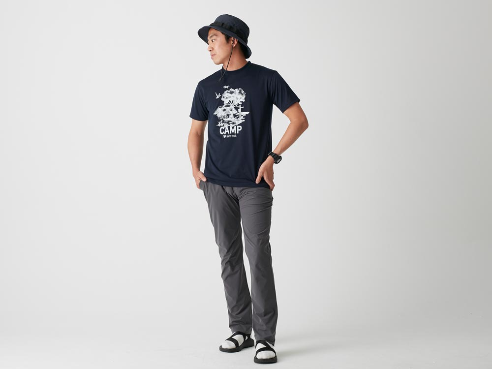 Printed Tshirt:Camp Field S Navy2