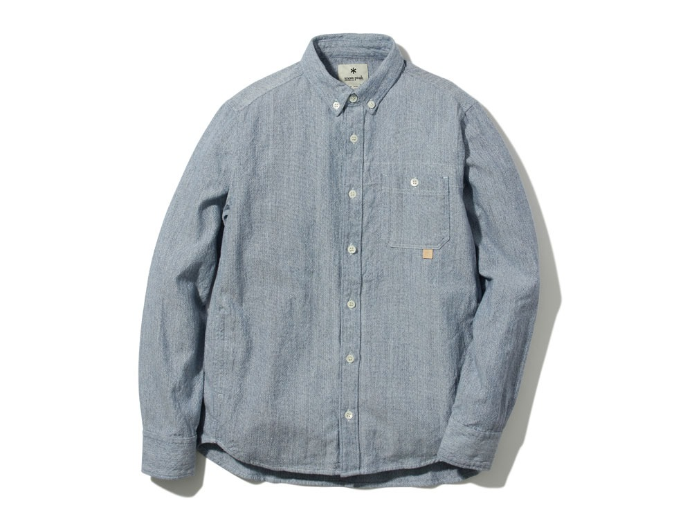 Organic OX Shirt L Blue0