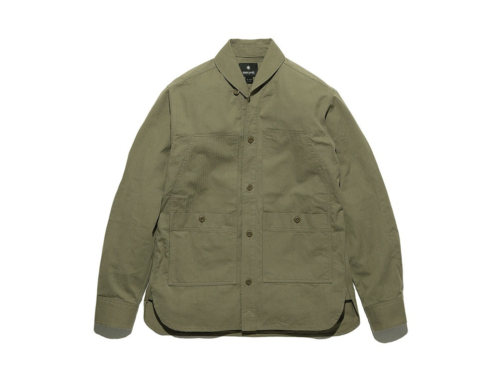 Herringbone Field Shirt M Olive0