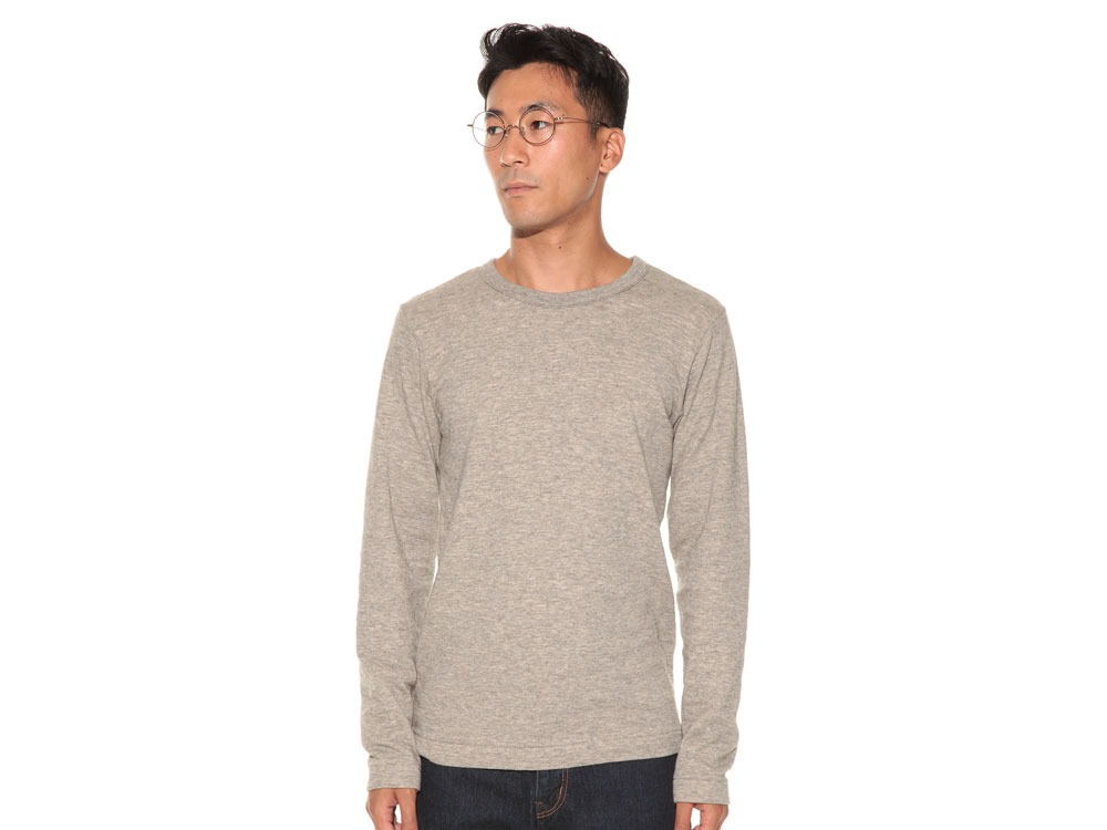 Yak/Cotton Double Knit Long Sleeve S M.Grey2