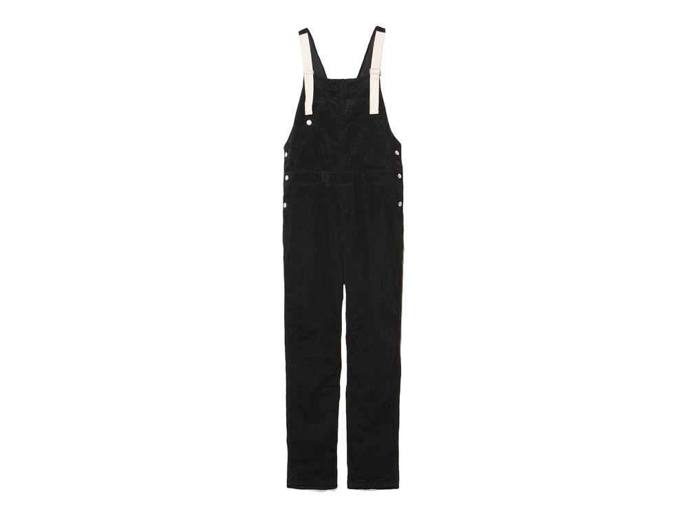 Linen corduroy overalls M Black0