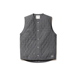Quilted Flannel Vest M Charcoal