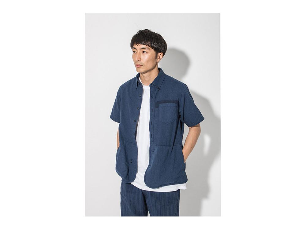 現代のワークシャツS/S  L/M Blue