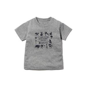 キッズスノーピークギアティーシャツ 1 メランジェグレー