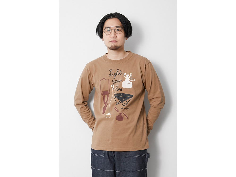 Light your Fire L/S Tee S Brown