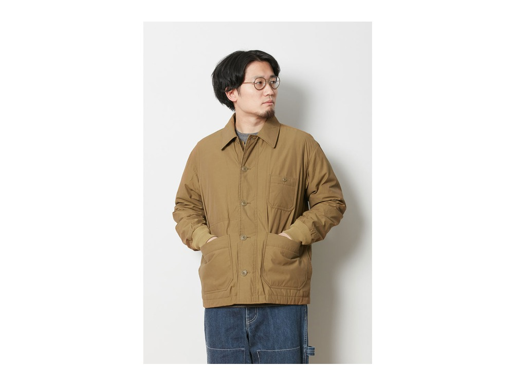Waxed C/N Down Jacket 1 Brown