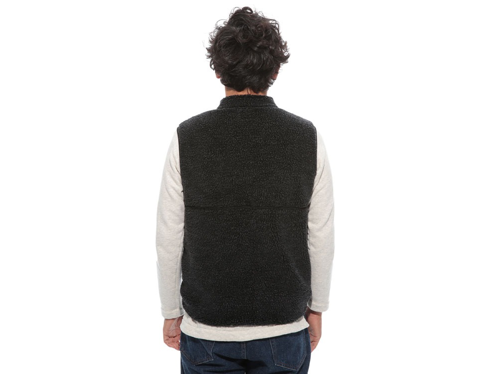 Soft Wool Fleece Vest L Olive4