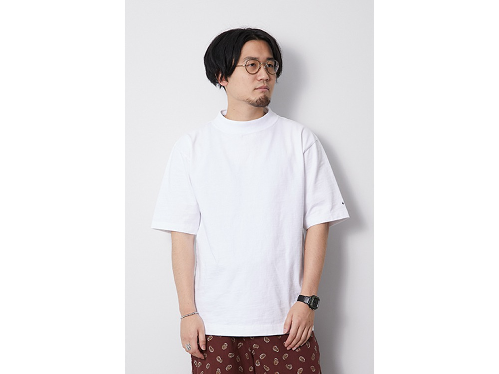 Heavy Cotton Mockneck Tshirt XL White