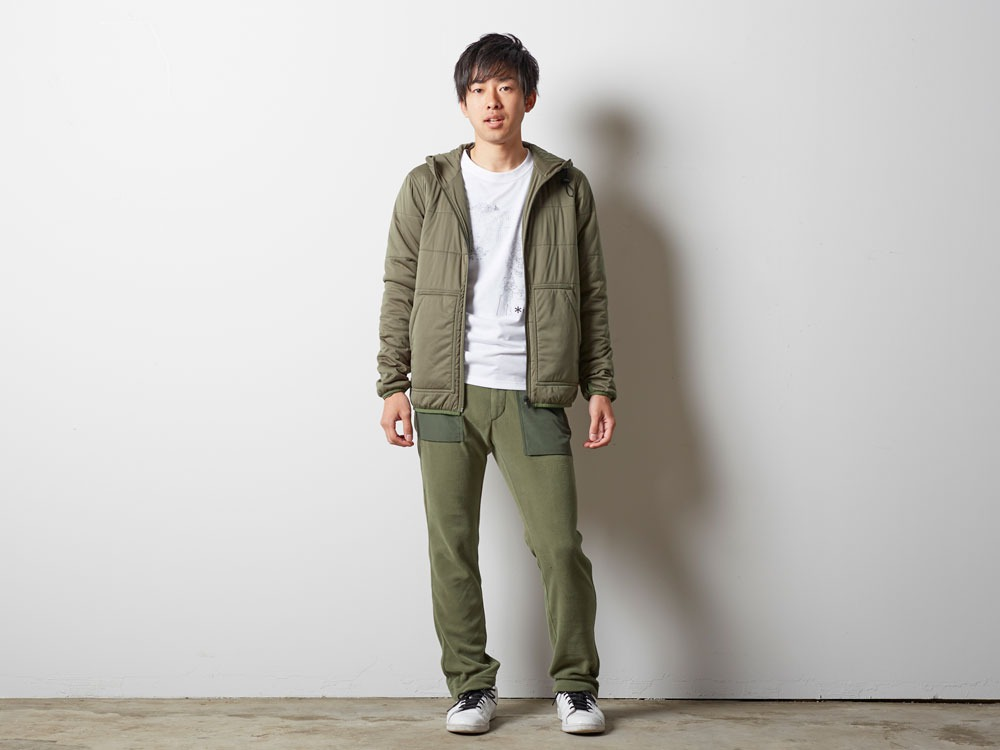 Flexible Insulated Hoodie S Olive1