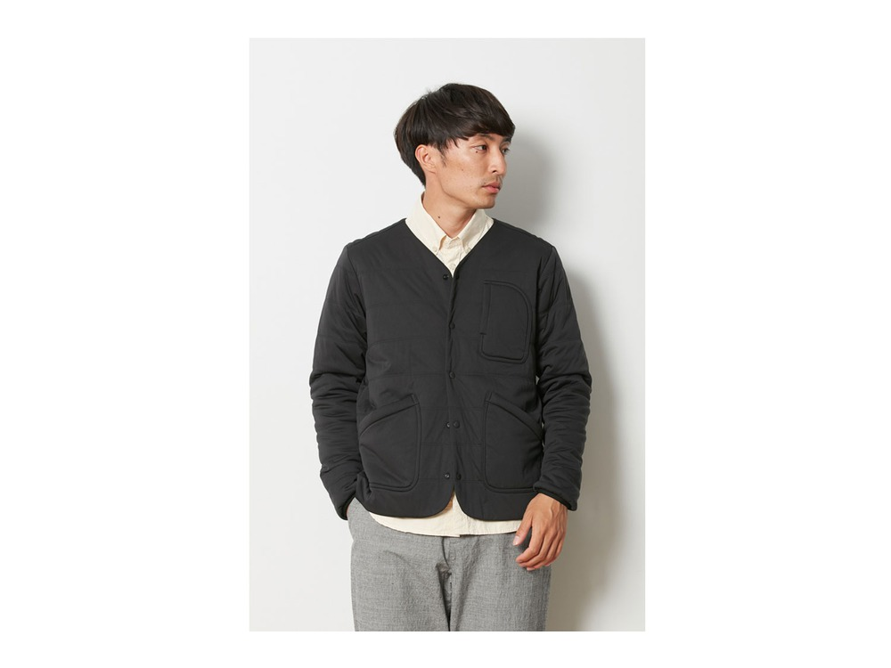 Flexible Insulated Cardigan 2 Black