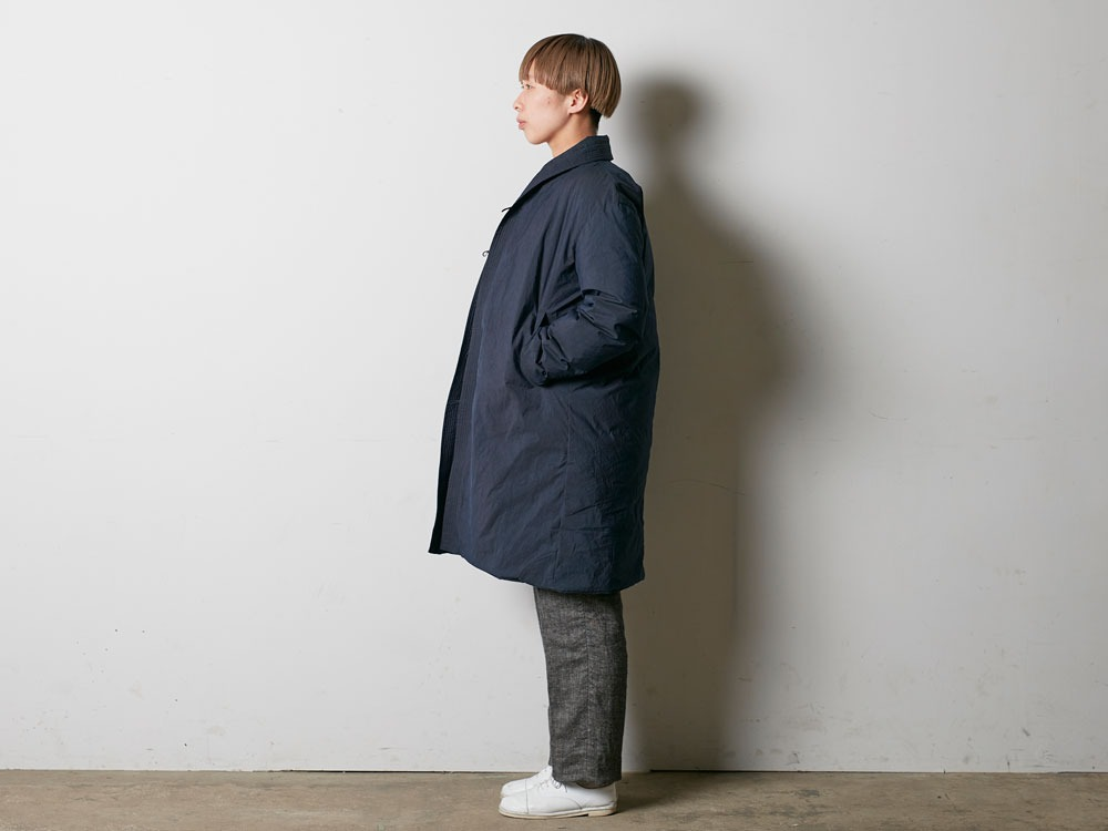 Indigo C/N Down Long Coat L Indigo2