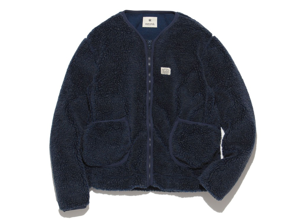 Soft Wool Fleece Jacket S Blue0