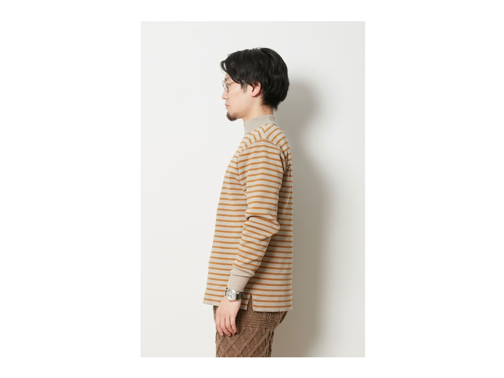 Wool Linen/Pe Turtlneck Long Sleeve L GY