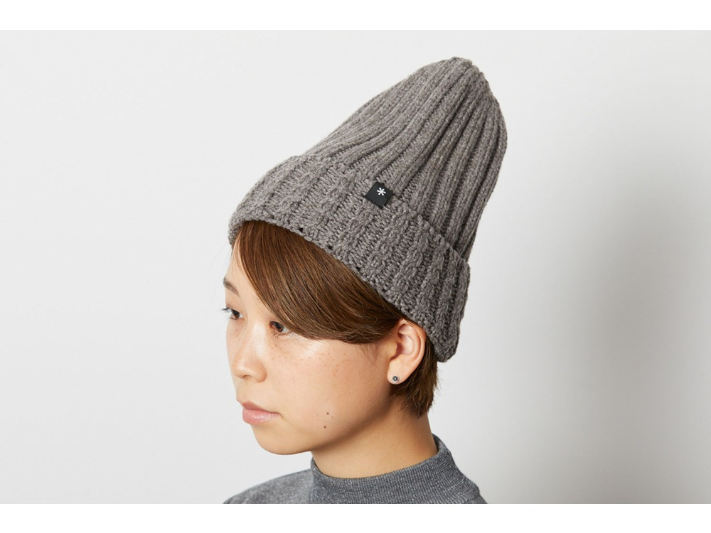 Washable Wool Knitted Cap One Black