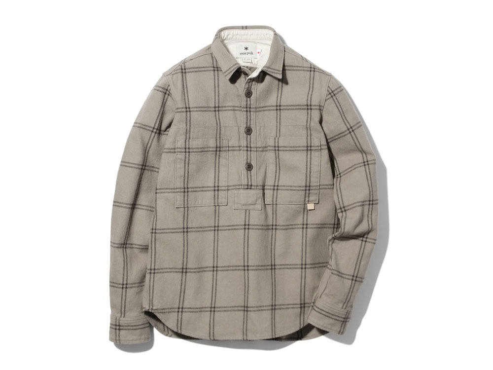 Check Heavy Flannel Pullover1Beige