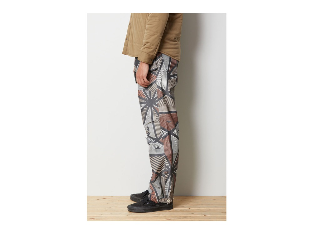 Printed eVent C/N Rain Pants M Red