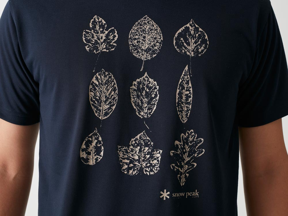 Printed Tshirt:Greenleaf L Navy1