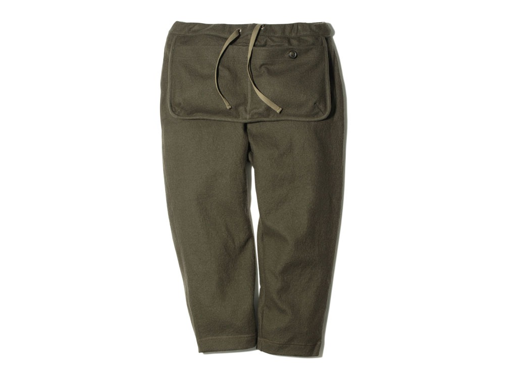 Wool Tight Knit Pants M Olive0