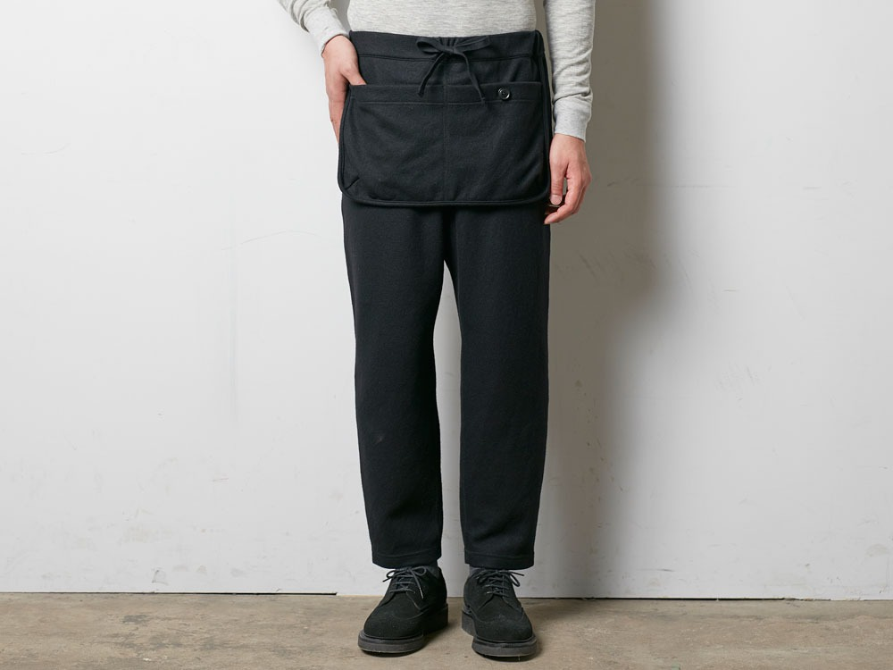 Wool Tight Knit Pants L Black2