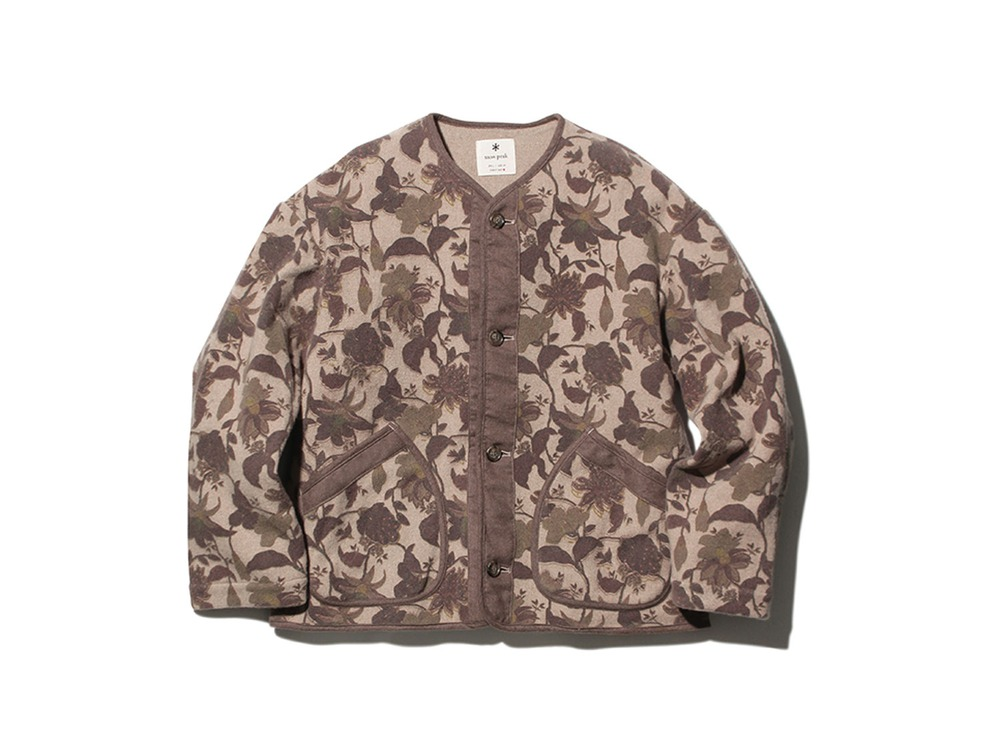 Printed Wo/Ny Cardigan S Beige