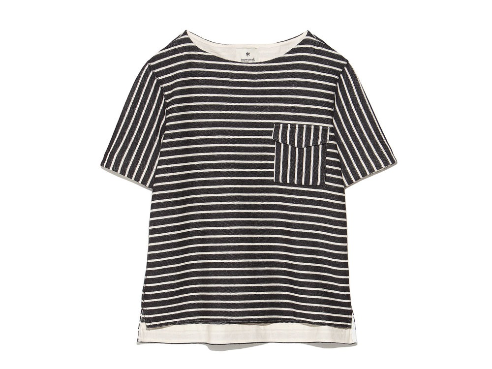 C/L Striped Pullover L Navy*Ecru0