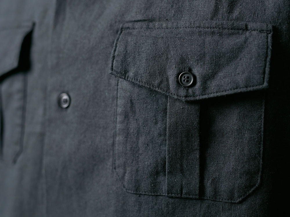 Safari Linen Shirt M Black7