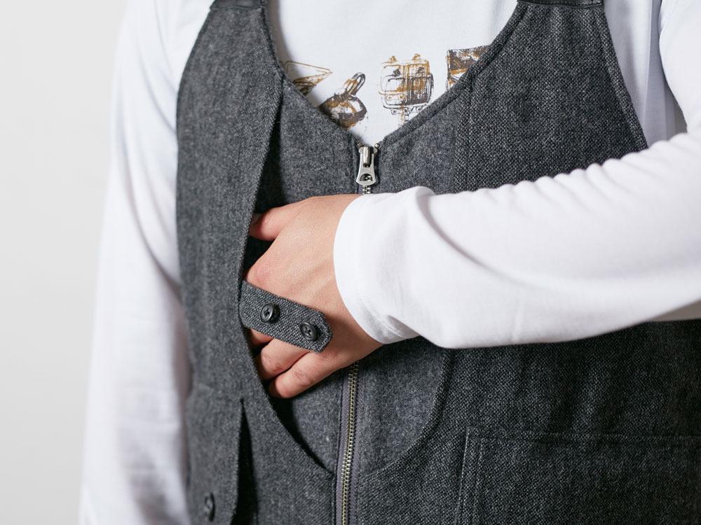 Wool TAKIBI Vest M Grey6