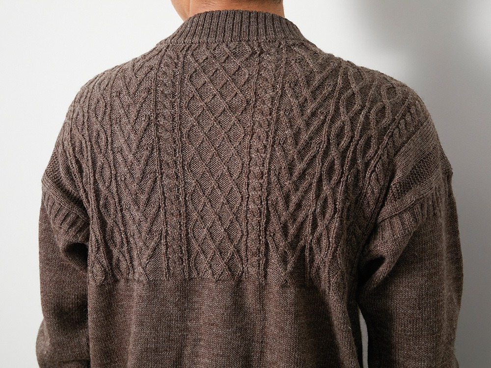 Shetland Guernsey Knit Pullover L CH