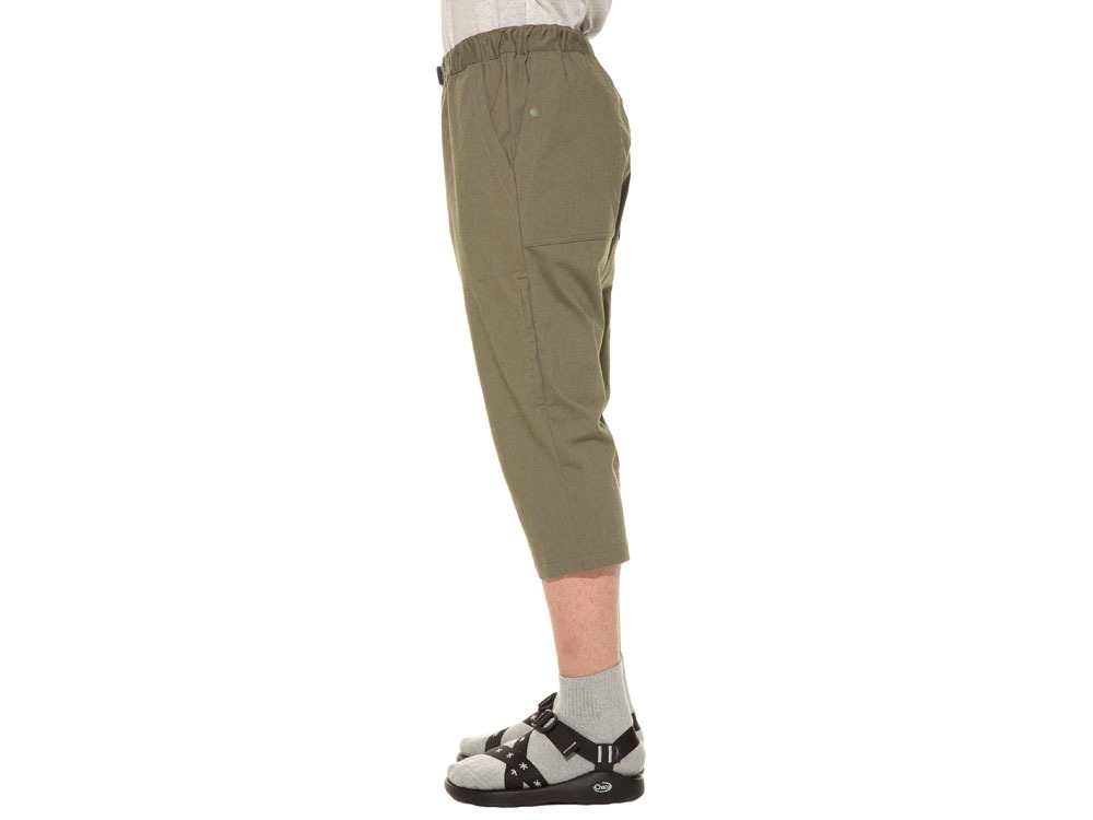 Power Stretch Cropped Pants L Olive2