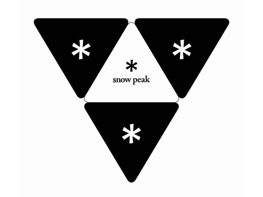 Snow Peak Logo Sticker Triangle0