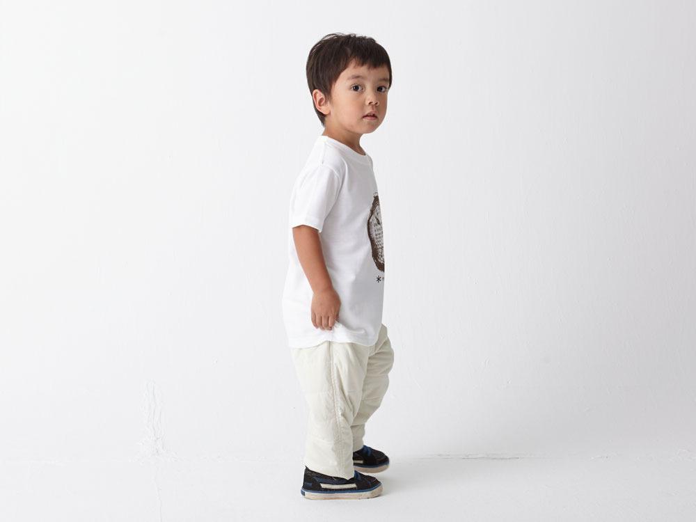 Kid's Printed Tshirt:Woodcut 2 White3
