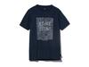 クイックドライティーシャツ (コントゥールプリント)  XL ネイビー