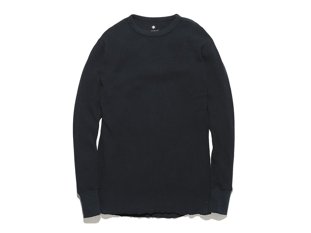 Organic Waffle Pullover 1 Navy0