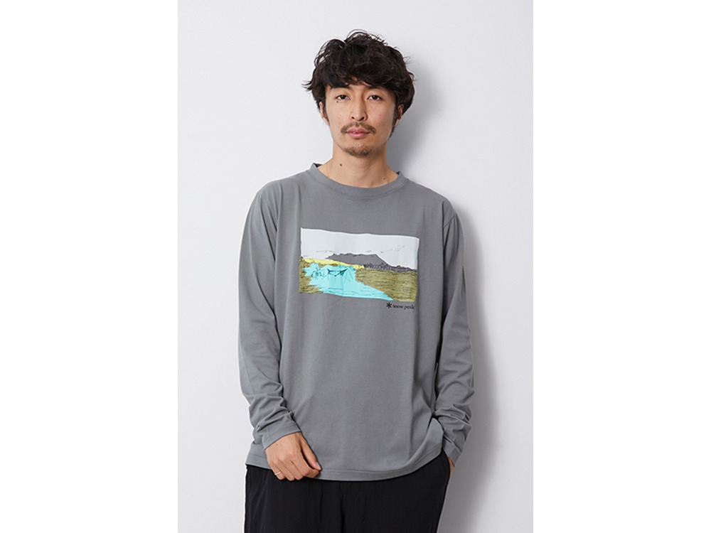 Printed L/S Tshirt Campfield M GK