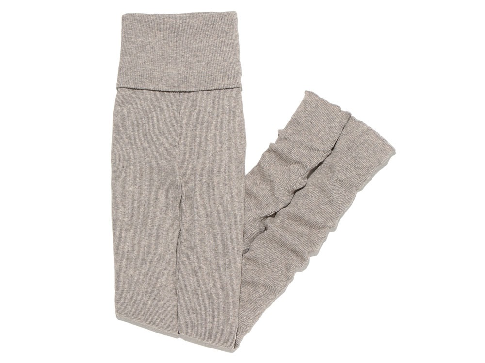 W's Yak/Cotton Rib Tights 1 M.Grey