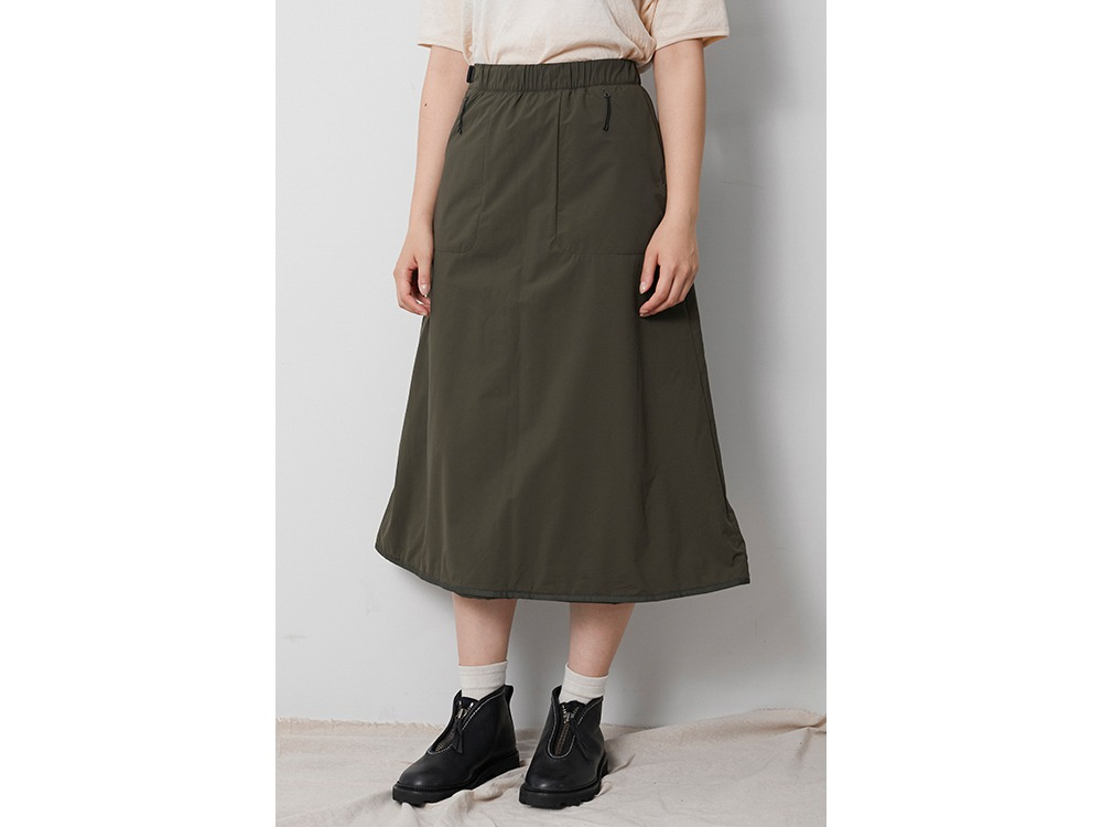 2L Octa Long Skirt 4 MossGreen