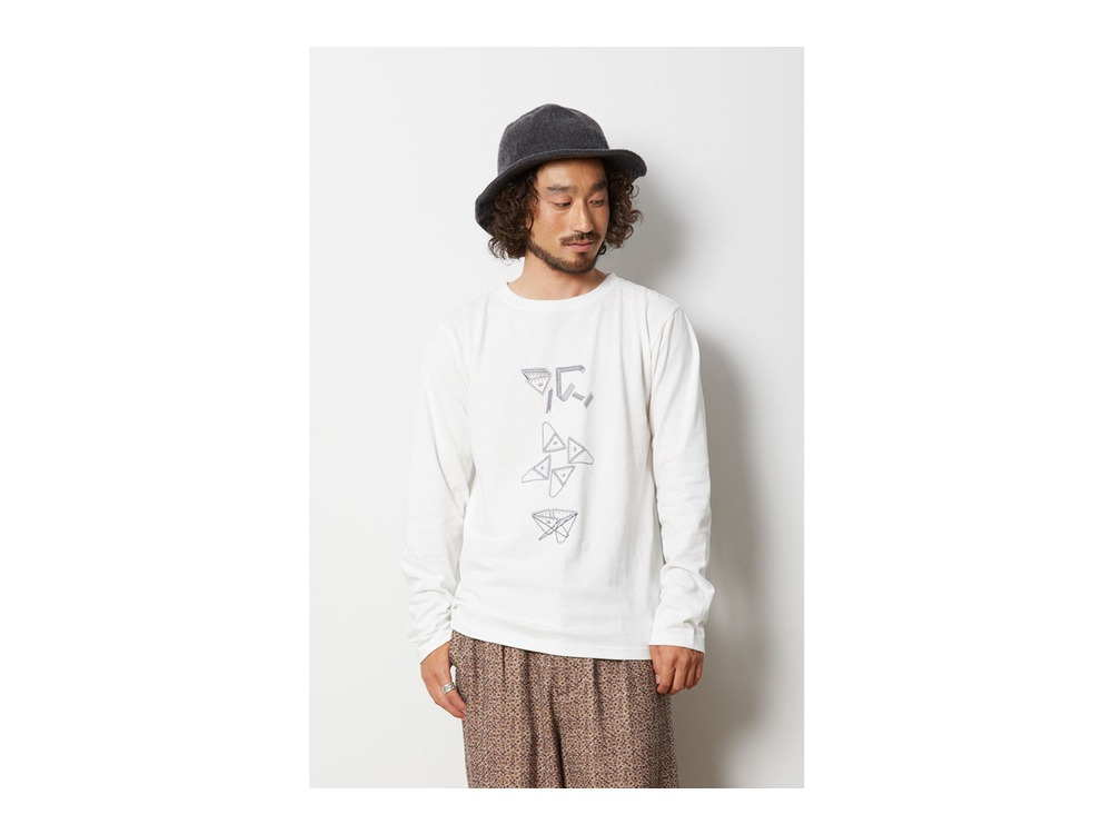 Fireplace ロングスリーブ Tシャツ XL White