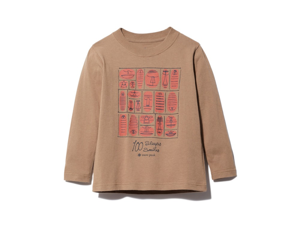 Kids 100 Sleep 100 Smile L/S Tee 1 BR